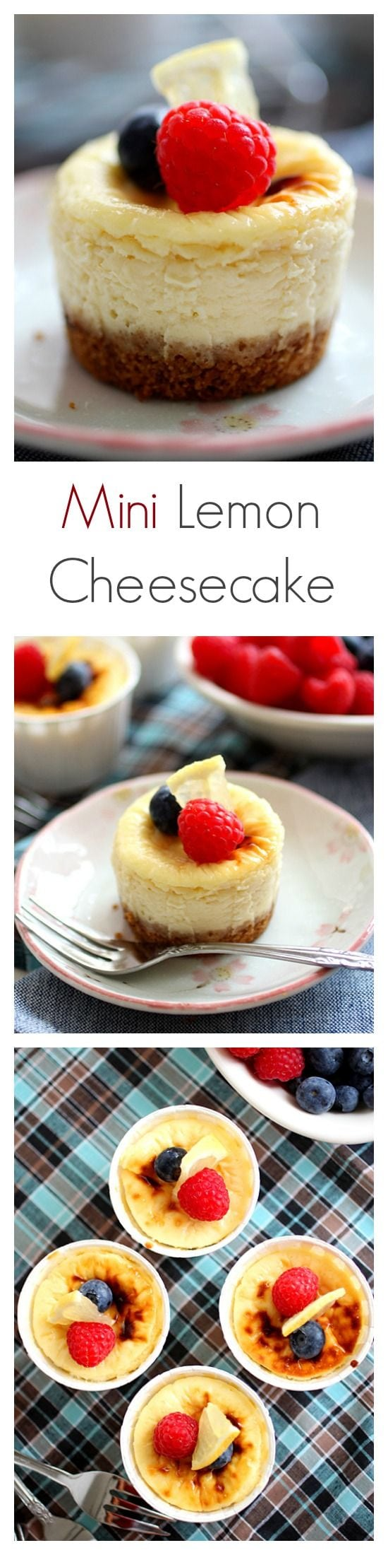Mini Lemon Cheesecake | Easy Delicious Recipes