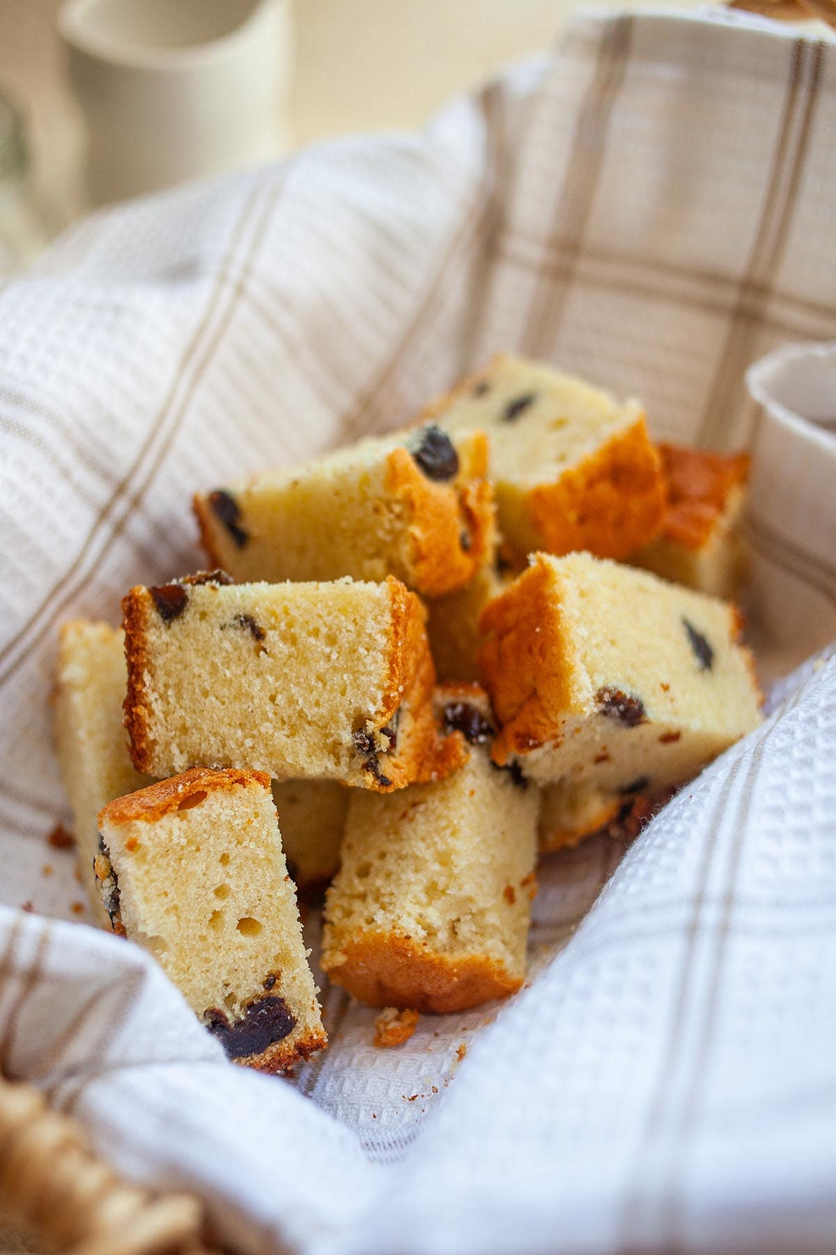 Rich, moist, sweet, and super buttery butter cake with splashes of brandy plus dried prunes.
