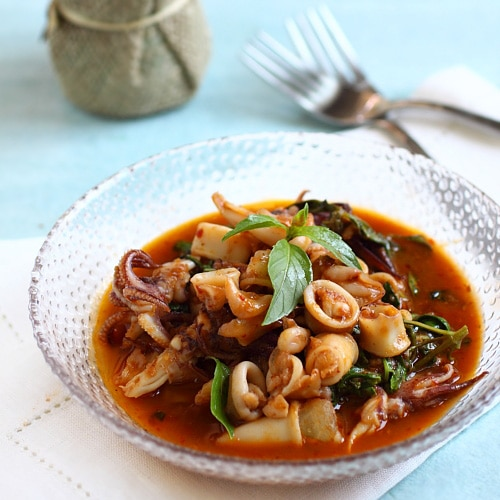 Thai Basil Squid