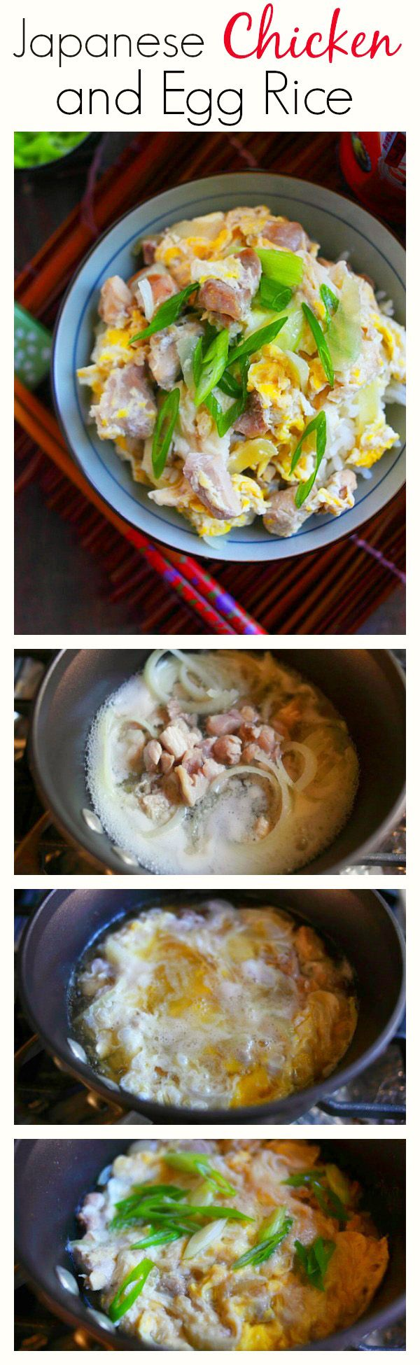 Oyakodon recipe japanese chicken and egg rice rasa malaysia one pot japanese chicken and eggs rice healthy delicious super easy and forumfinder Image collections
