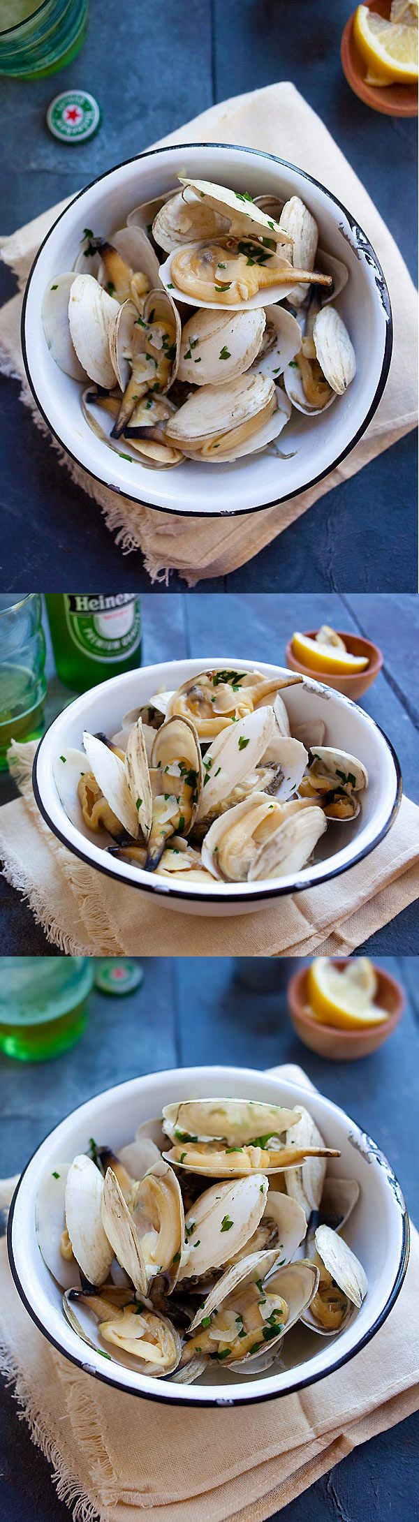 Garlic Butter Steamers – New England steamers (soft shell clams ...