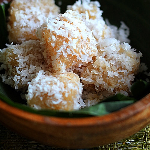 Cassava Cake with Shredded Coconut
