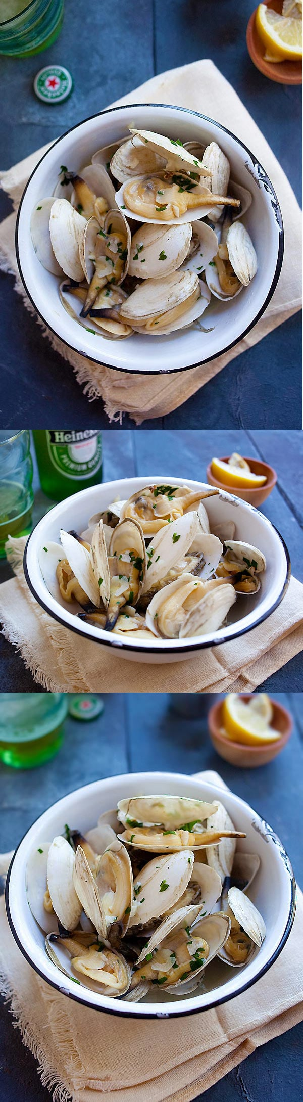 how to cook frozen white clams chinese