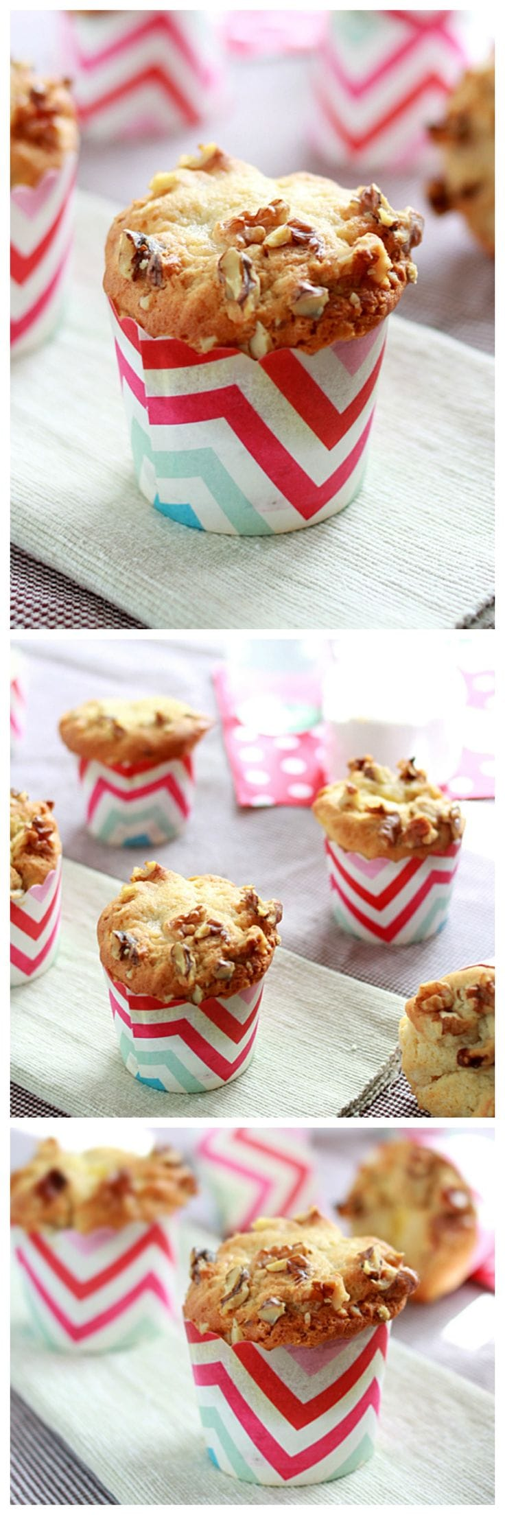 Banana Cream Cheese Muffins – The sweetest and creamiest muffin recipe ever. It's like eating banana muffin and cheesecake together in one bite   rasamalaysia.com