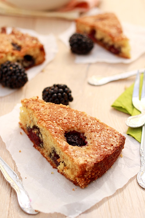 Buttermilk Cake with Blackberries | Easy Delicious Recipes