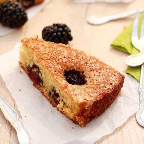 Buttermilk Cake with Blackberries