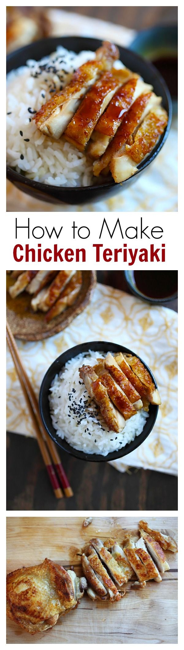 How to make chicken teriyaki – EASY recipe for teriyaki sauce plus chicken teriyaki that tastes like Japanese restaurants | rasamalaysia.com