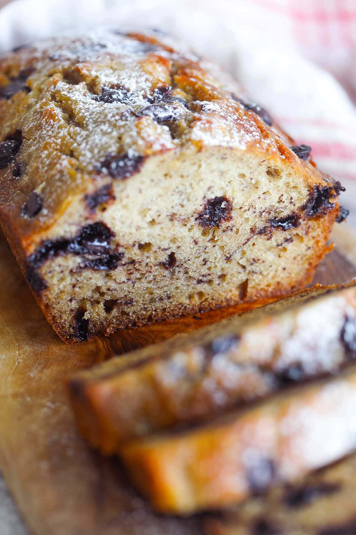 Best chocolate chip banana bread recipe.