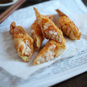 Shrimp Wrapped in Tofu Skin