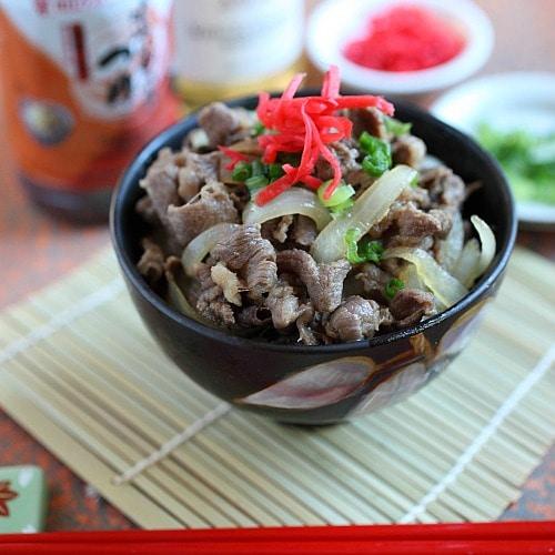Gyudon (Japanese Beef Bowl) | Easy Delicious Recipes: Rasa Malaysia
