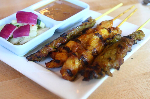 Chicken and Beef Satay