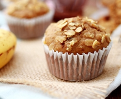 Banana Oatmeal Raisin Muffins