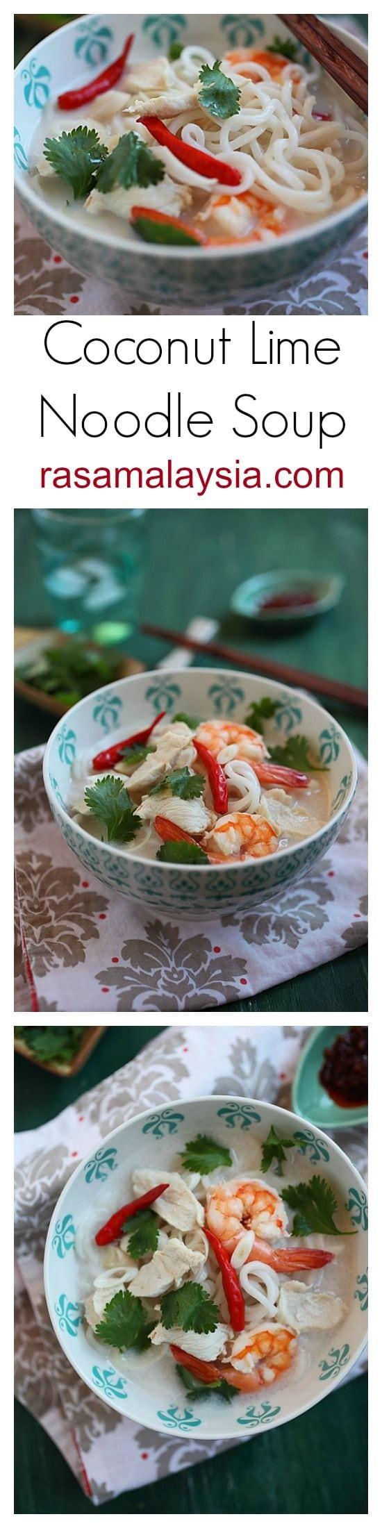 Coconut Lime Noodle Soup | Easy Delicious Recipes