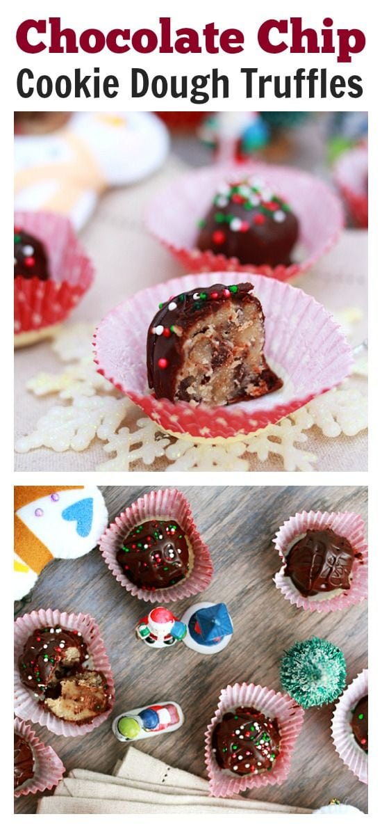Chocolate Chip Cookie Dough Truffles - so easy to make and so decadent you can't stop eating them this holiday season   rasamalaysia.com