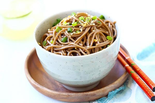 Ginger Soy Soba - the easiest and healthiest noodles made with ginger ...