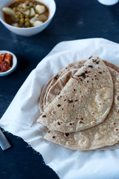 Easy and quick homemade Chapati bread, ready to serve.