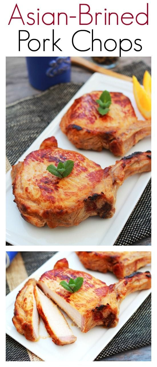 Asian-brined Pork Chops - flavorful and delicious Asian pork chops, so easy to make dinner is ready in 30 mins   rasamalaysia.com