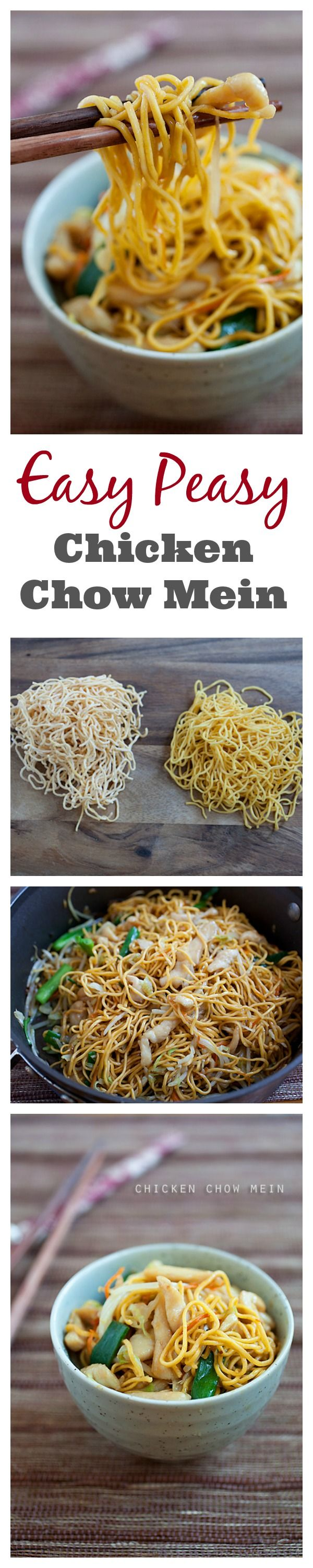 The best chicken chow mein recipe rasa malaysia easy and the most delicious chicken chow mein recipe that is much better and healthier than forumfinder