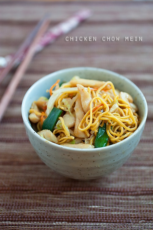 The best chicken chow mein recipe rasa malaysia easy and the most delicious chicken chow mein recipe that is much better and healthier than forumfinder Image collections