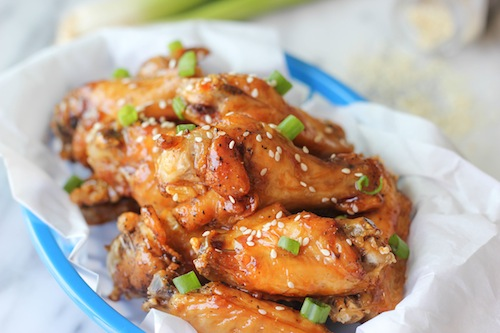 Korean Kyochon style copycat sweet and sticky soy fried chicken recipe.