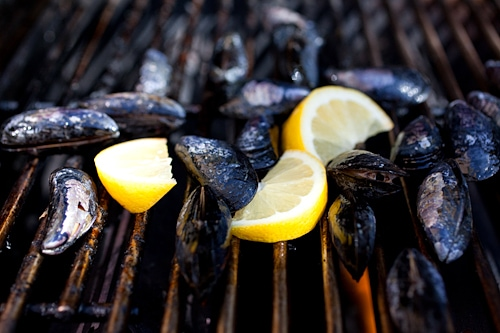 Delicious homemade restaurant style lemongrass and coconut cream grilled mussels.