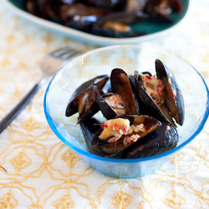 Lemongrass & Coconut Cream Grilled Mussels