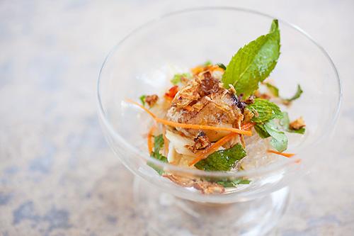 Easy cold crab noodles salad recipe.