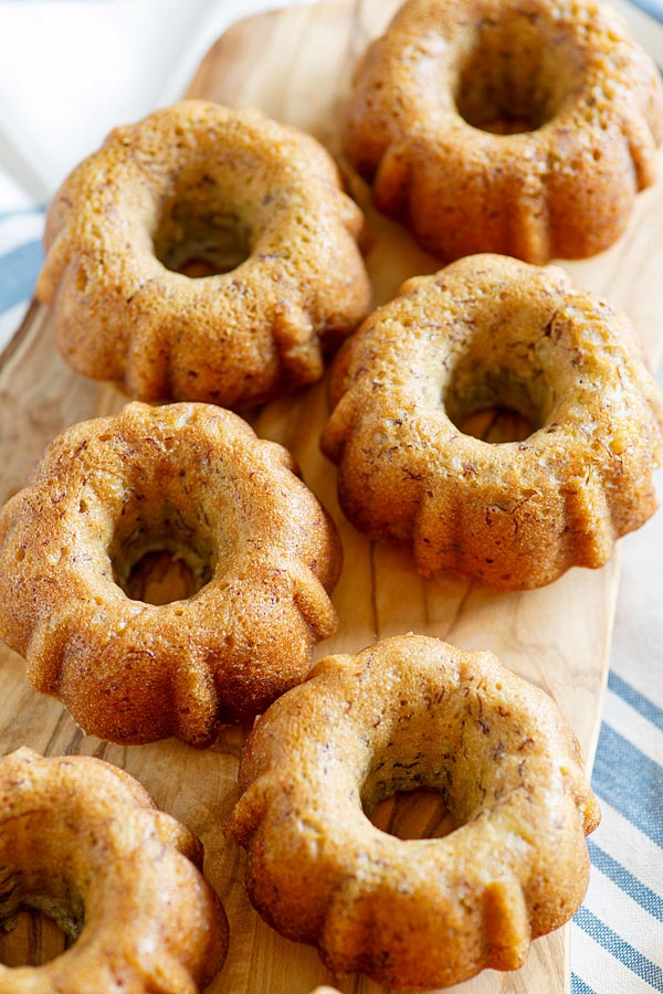 Best Banana Bundt Cake recipe made with yogurt.