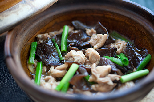 Chicken stew with black fungus, a classic Chinese/Cantonese dish that ...
