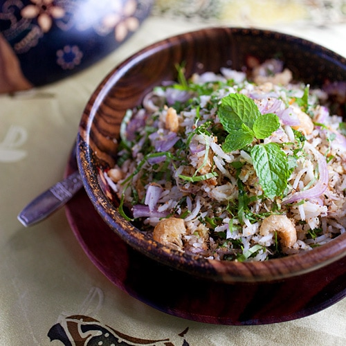 Nasi Ulam (Malaysian Mixed Herb Rice)