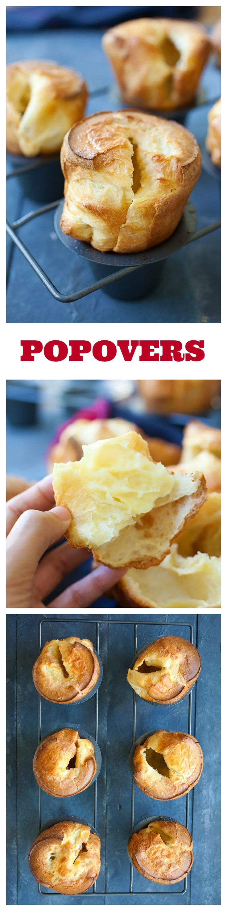 Popovers The Best And Easiest Recipe Rasa Malaysia