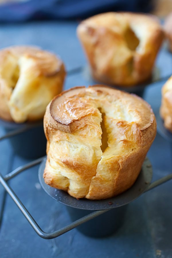 Delicious and easy popovers recipe, made with just a few ingredients.