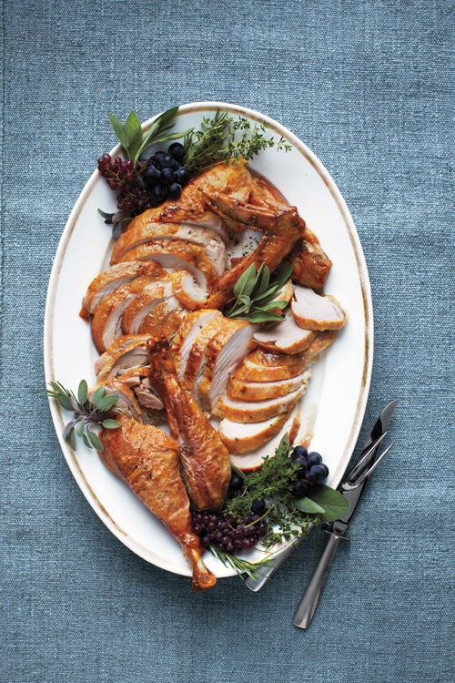 Moist, tender, juicy Thanksgiving roasted turkey recipe using parchment paper. Easy and perfect roasted turkey recipe from Martha Stewart Living. | rasamalaysia.com