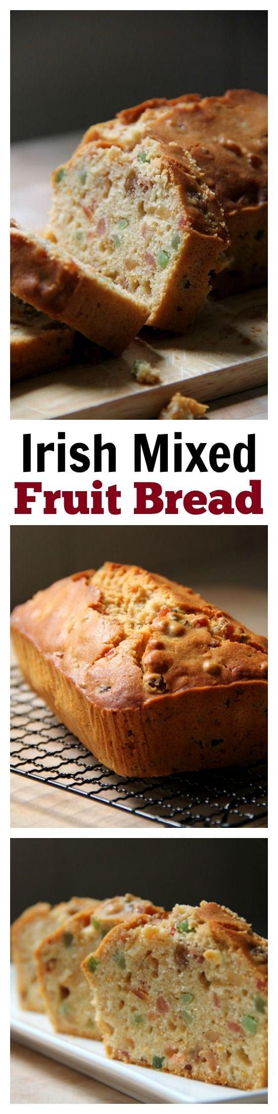 Irish Mixed Fruits Tea Bread - amazing afternoon tea bread recipe loaded with mixed fruits, so yummy   rasamalaysia.com