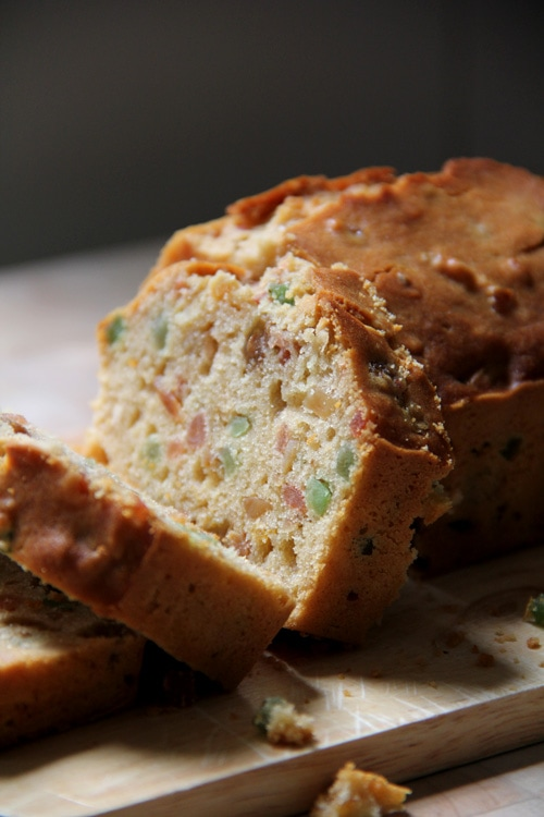 Easy homemade baked Irish mixed fruits tea bread.