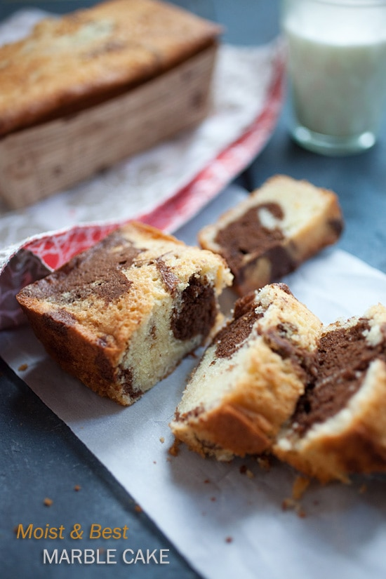 Marble Cake - Moist, buttery, and the BEST marble cake recipe ever. Get the recipe now | rasamalaysia.com