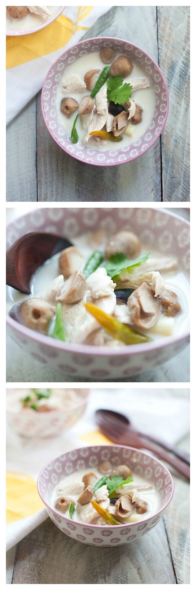 Thai Coconut and Chicken Soup - this soup is hearty and so yummy and SUPER easy to make | rasamalaysia.com
