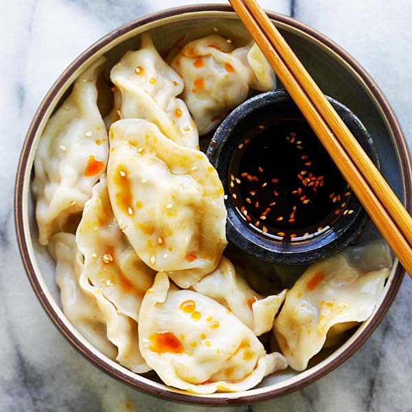 Pork Shrimp and Napa Cabbage Dumplings