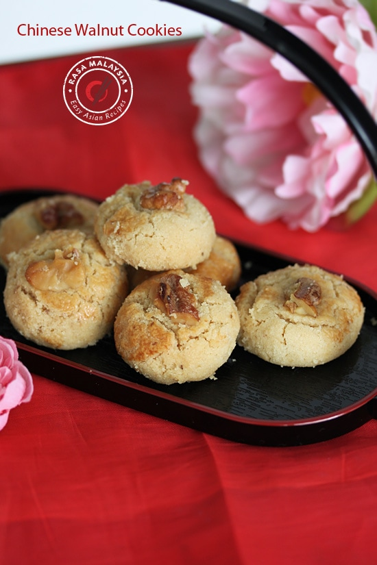Easy and most delicious melt in your mouth Chinese walnut cookies (核桃酥) recipe.