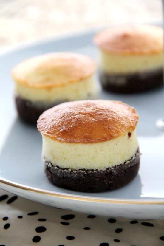 Easy chocolate brownie topped with rich buttery cake on top.