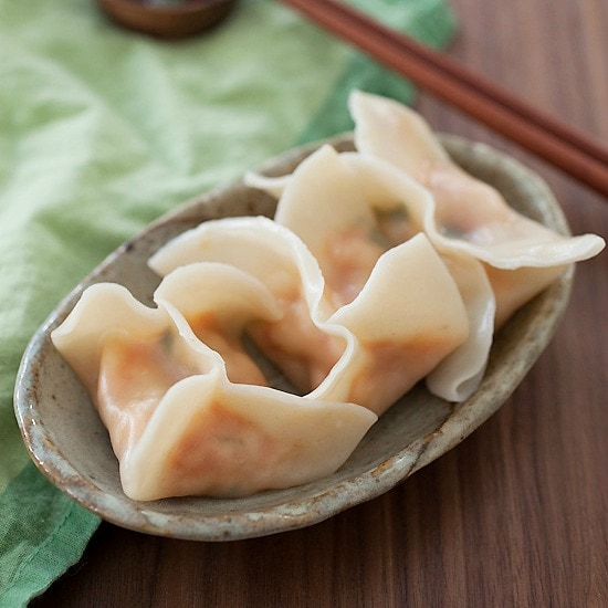 Red Curry Shrimp Dumplings Recipe. Addicted to this mildly spicy and absolutely DELICIOUS dumplings. 20 Minutes to make | rasamalaysia.com