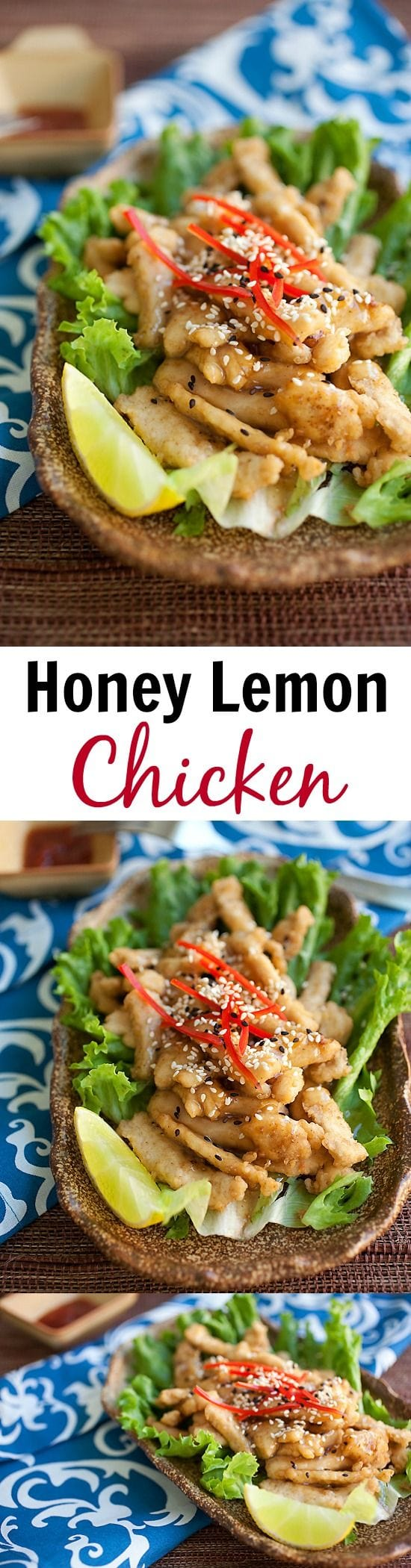 Honey Lemon Chicken – crispy chicken with the most AMAZING honey lemon sauce that is super delicious. Quick and easy recipe that anyone can make at home | rasamalaysia.com