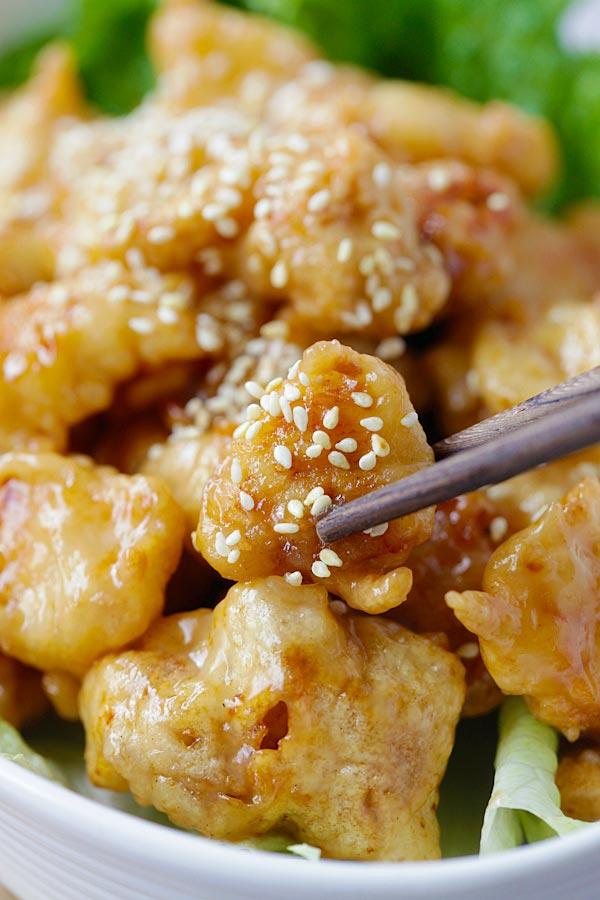 recipe: crispy honey lemon chicken [12]