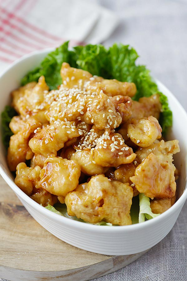 recipe: crispy honey lemon chicken [16]