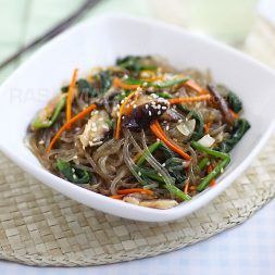 Japchae (Korean Mixed Noodles)
