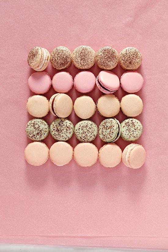 Easy and delicious homemade French macarons in pastel colors.