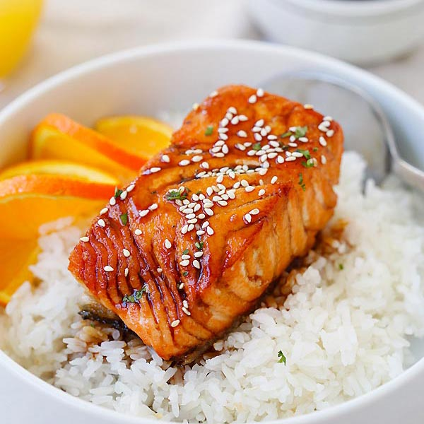 Salmon With Orange Teriyaki Glaze Rasa Malaysia
