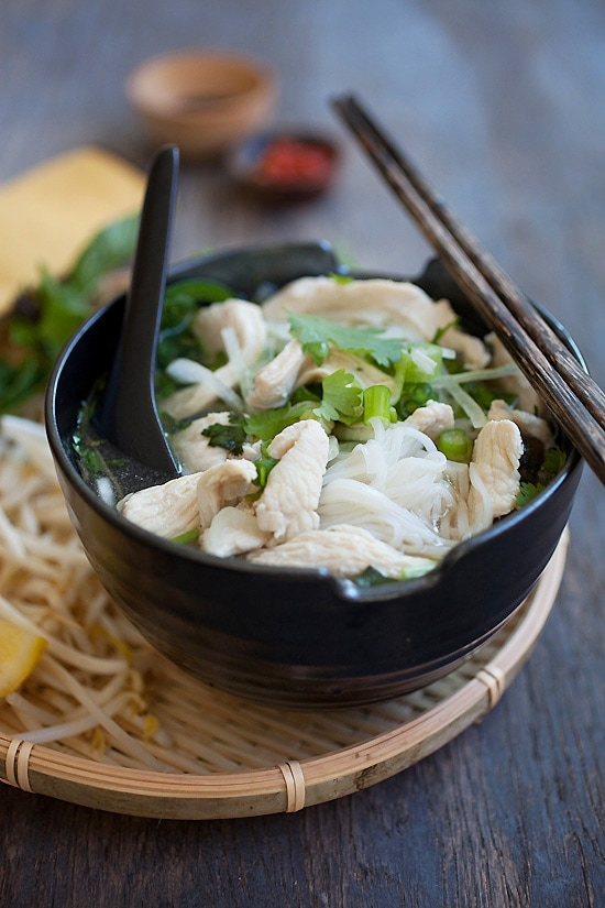 Close up of traditional and easy Vietnamese Pho recipe.