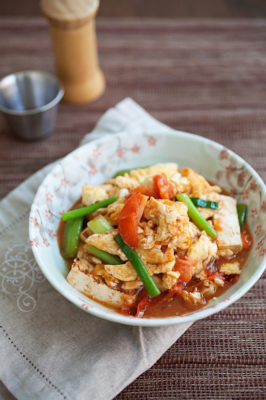 Tomato and tofu eggs easy delicious recipes tomato and tofu eggs is an easy chinese recipe to make at home with tomato forumfinder Choice Image