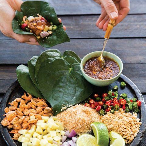 Leaf-Wrapped Salad Bites
